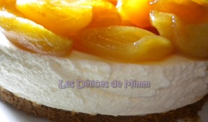 Cheesecake spéculoos, pommes caramélisées et sa sauce caramel au beurre salé