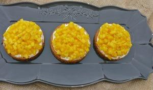 Tartelette mousse vanille et mangue