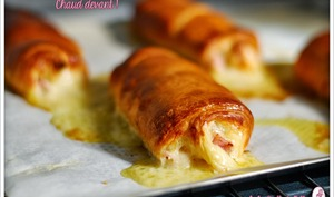 Pains au chocolat mais jambon - fromage