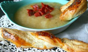 Soupe aux pommes chorizo et ses feuilletés