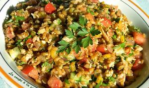 Salade épicée au petit épeautre et au thon