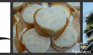 Roulades de Marlin au Coeur de Palmiste Frais et sa Sauce Hollandaise