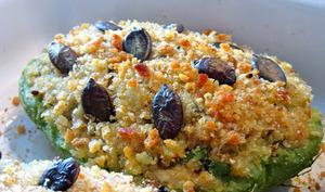 Chayottes farcies au thon et au quinoa