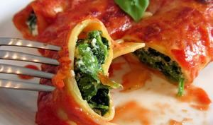 Cannelloni aux épinards et brocciu