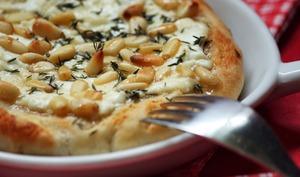 Pizza caprine