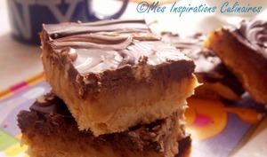 Millionaire Shortbread ou carres sables au caramel et chocolat