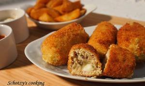 Croquettes de poulet au fromage fondu