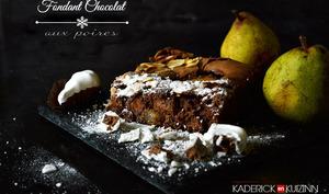 Fondant chocolat aux poires, amandes et noisetons Chocadom®