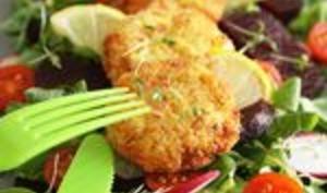 Galettes de surimi en salade