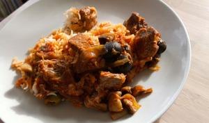Veau aux olives et aux champignons