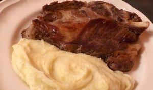 Porc Cul Noir et Purée de Choux-Fleur à la Tome