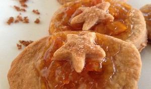 Les sablés à la confiture d'orange et sucre muscovado