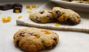 Cookies choco-cannelle et orange confite