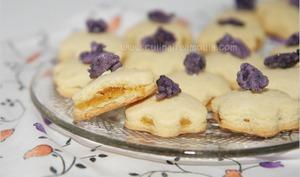 Biscuits fourrés à la crème de calisson