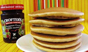 Pancakes sans gluten au levain et aux graines de chia