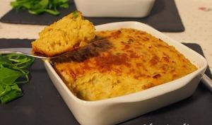 Gratin de purée de pommes de terre au haddock et curry