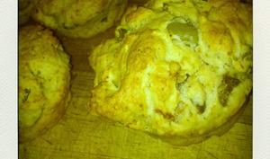 Muffins aux olives vertes et mousse de chorizo