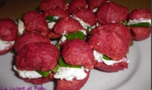 Whoopies betteraves fromage