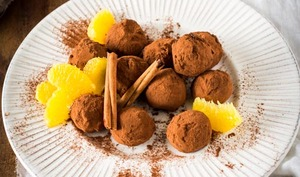 Truffes au chocolat, orange et cannelle
