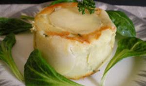 Charlotte de pommes de terre, épinards et ricotta