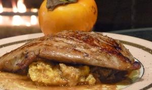 Foie gras poêlé au chutney de kakis