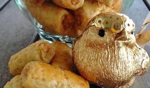 Les rouleaux dorés à la pâte d'amandes