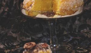 Gâteau coco à l'orange curd et rochers chocolat