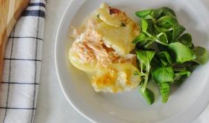 Tartiflette saumon - reblochon