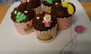 Cupcakes chocolat épices de Noël