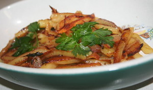 Pommes de terre rôties à la lyonnaise