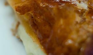 Feuilleté au roquefort,au miel et aux noix