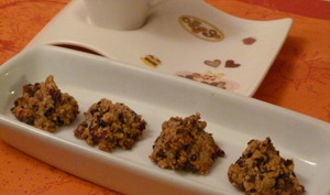 Amaretti au pralin et grué de cacao