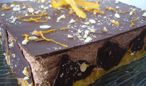Entremet chocolat et orange