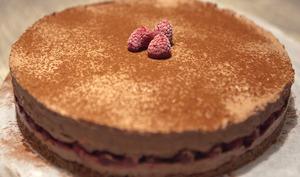 Entremet chocolat et framboise