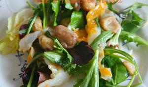 Salade de haddock et châtaignes
