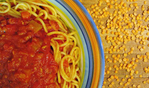 Sauce à spaghetti aux lentilles corail