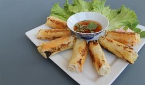 Nems thaïs aux crevettes à la plancha