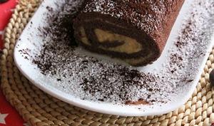 Roulé chocolat au caramel au beurre salé
