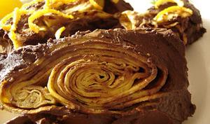 Lingot de crêpes en ganache chocolat