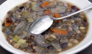 Minestrone de légumes secs