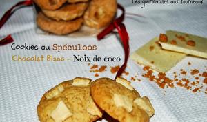 Cookies au spéculoos et au chocolat blanc - noix de coco