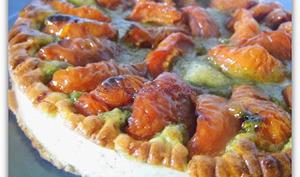 Tarte abricots-pistache