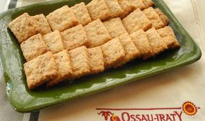 Sablés apéritifs à l'épeautre et au fromage de Brebis Ossau-iraty