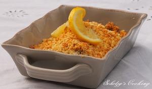 Crumble de poisson citronné & gingembre