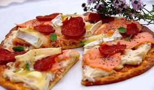 Pizza norvégienne terre mer IG bas