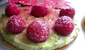 Croustillant framboises et pistaches
