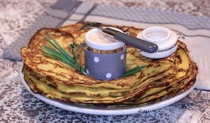 Crêpes de potimarron à la crème de chorizo