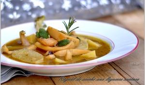 ragoût de morgates aux légumes racines et kari gosse