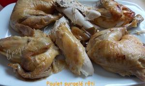Poulet surgelé rôti