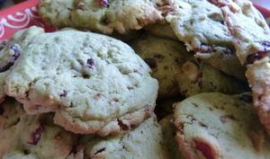 Cookies thé matcha, cranberries et chocolat blanc